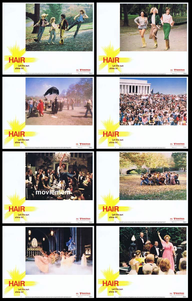 HAIR Original Lobby Card Set John Savage Treat Williams Love-Rock Musical