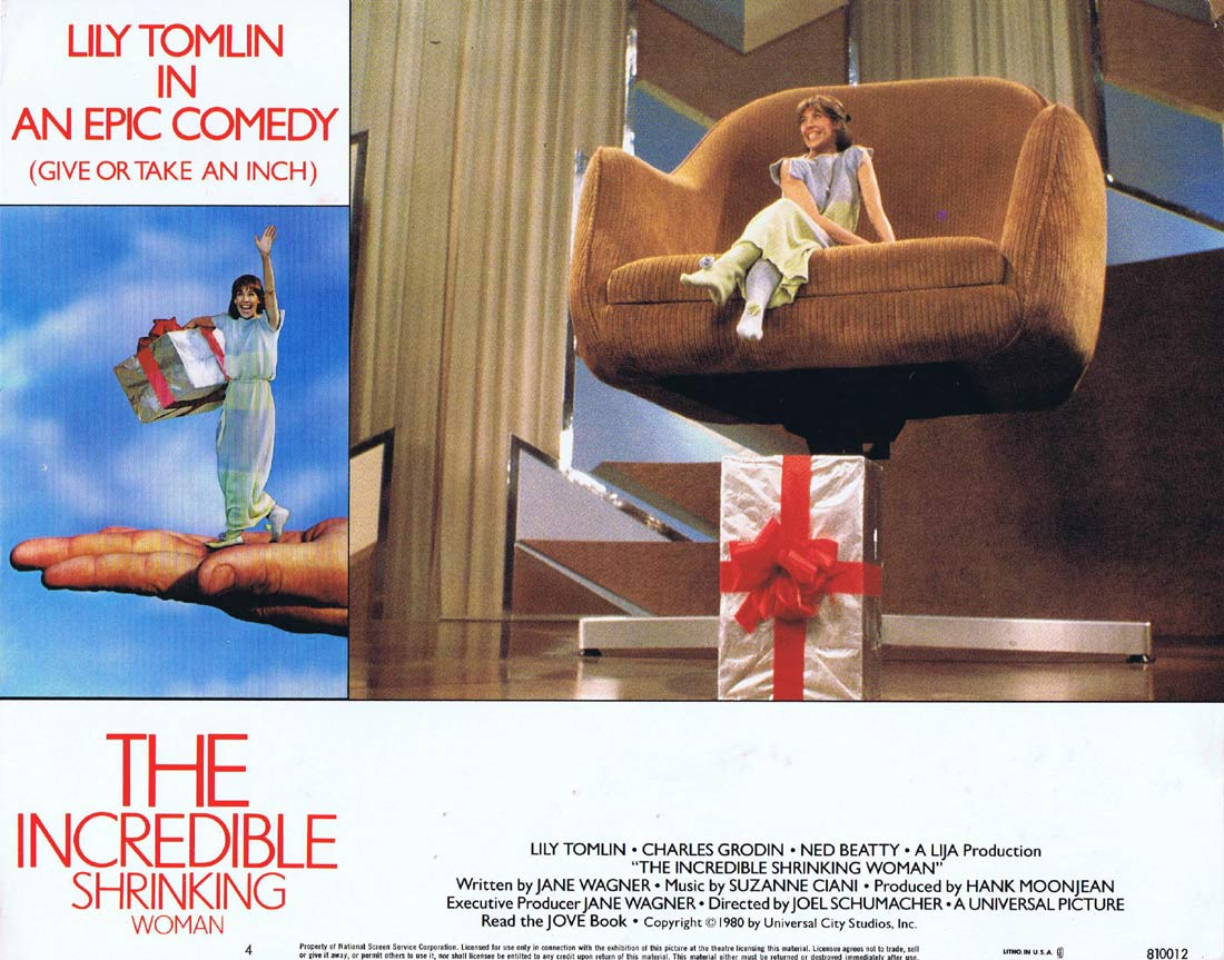 THE INCREDIBLE SHRINKING WOMAN Original Lobby Card 4 Lily Tomlin Charles Grodin