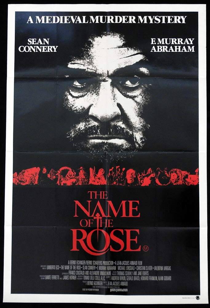 THE NAME OF THE ROSE Original US One Sheet Movie Poster Sean Connery F. Murray Abraham
