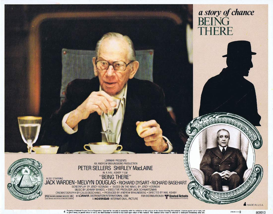 BEING THERE Original Lobby Card 4 Peter Sellers Shirley MacLaine