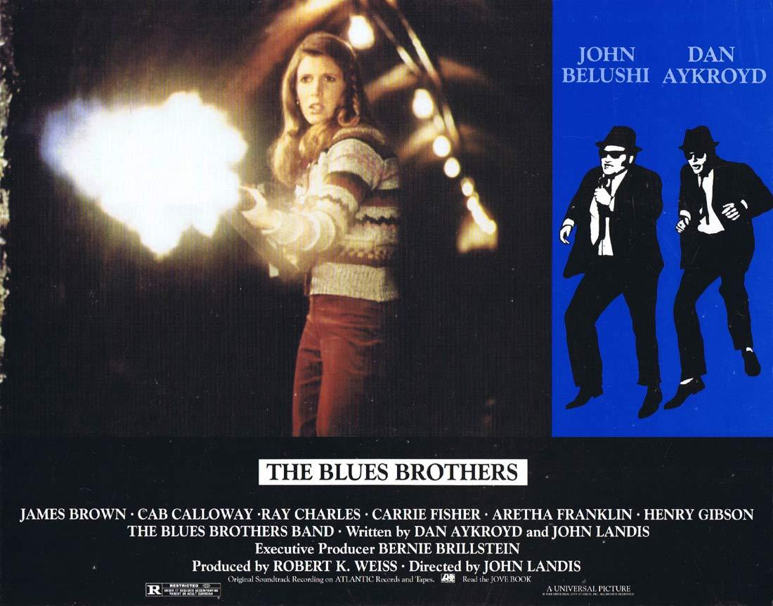THE BLUES BROTHERS Vintage Lobby Card 3 Dan Aykroyd John Belushi Carrie Fisher