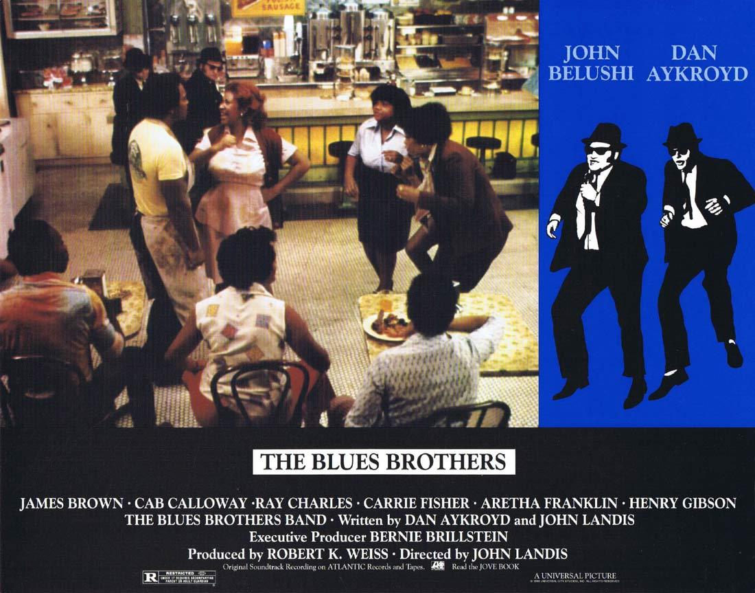 THE BLUES BROTHERS Vintage Lobby Card 7 Dan Aykroyd John Belushi Aretha Franklin
