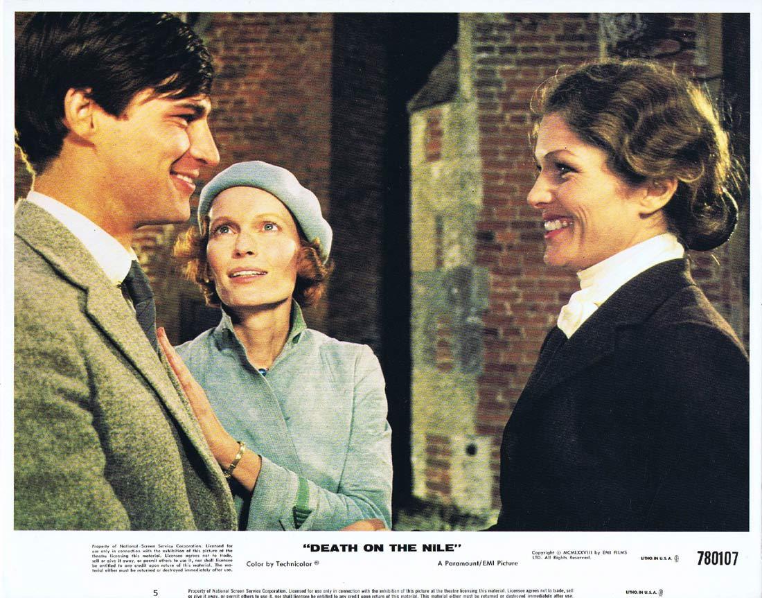 DEATH ON THE NILE Original Lobby Card 5 Mia Farrow Agatha Christie