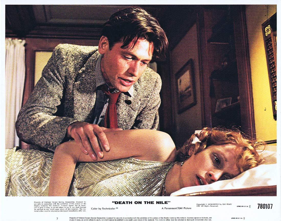DEATH ON THE NILE Original Lobby Card 7 Mia Farrow Agatha Christie