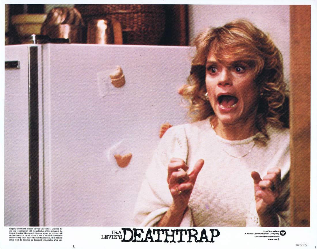 DEATHTRAP Original Lobby card 7 Michael Caine Christopher Reeve Dyan Cannon