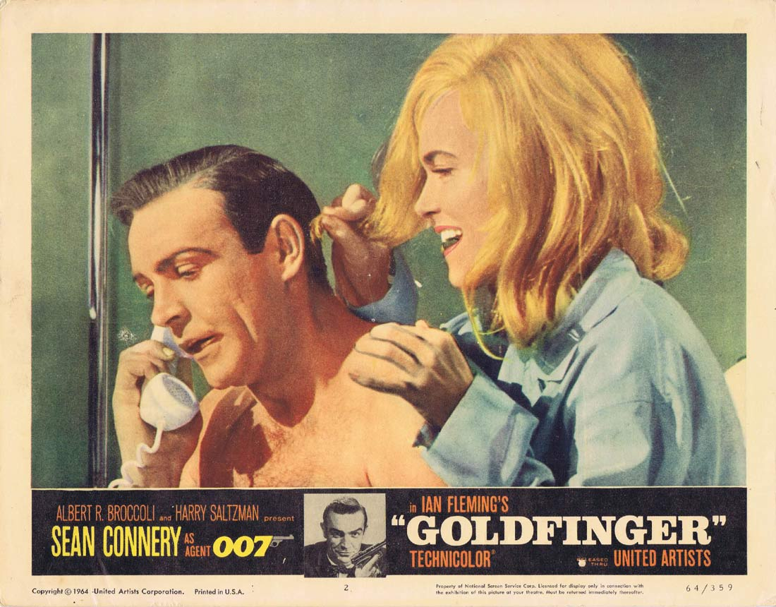 GOLDFINGER Original Lobby Card 2 Sean Connery James Bond