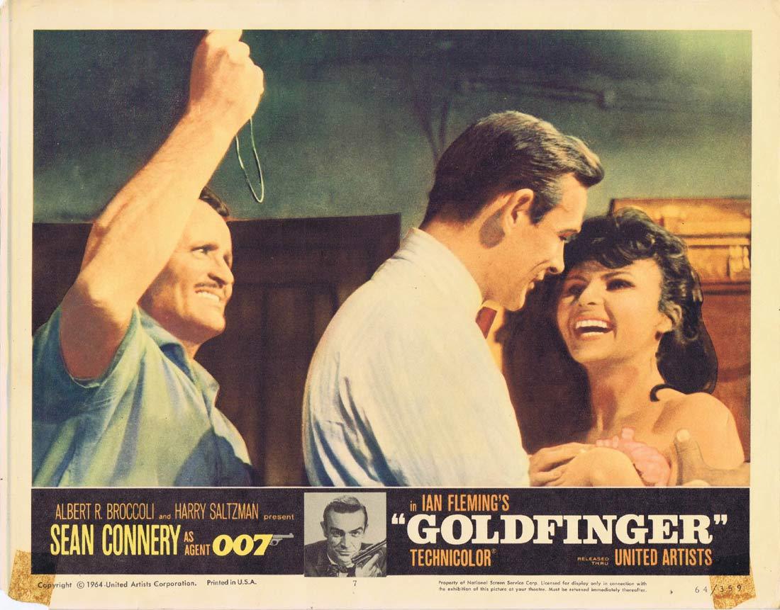 GOLDFINGER Original Lobby Card 7 Sean Connery James Bond