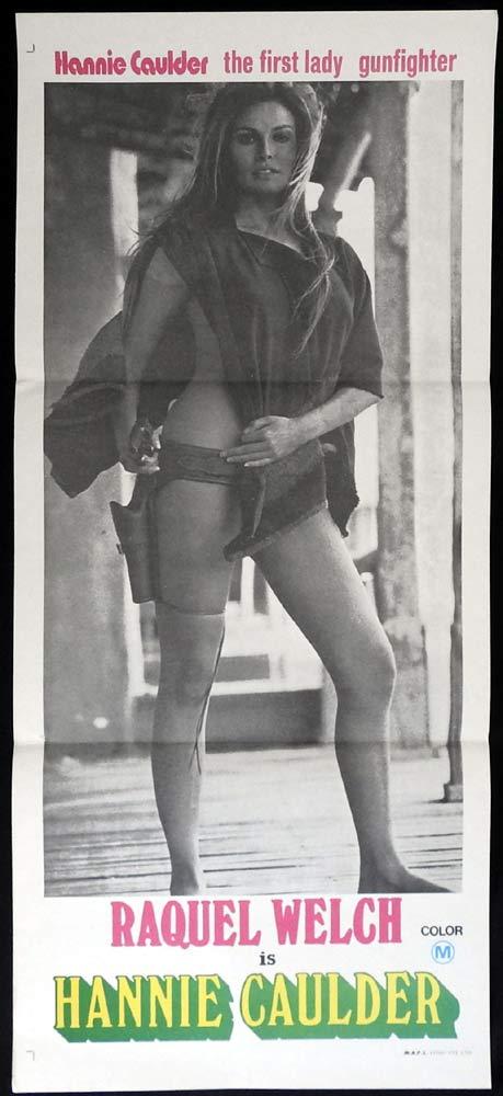 HANNIE CAULDER Original Daybill Movie Poster Raquel Welch Sexiest Image of all!