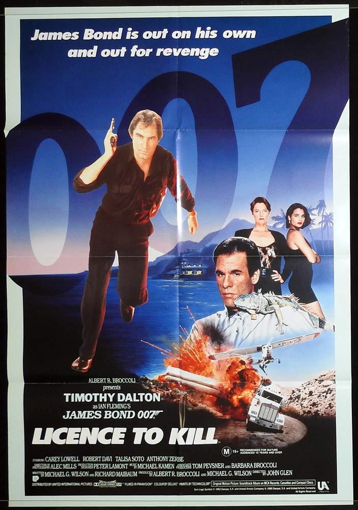 LICENCE TO KILL Original Australian One sheet Movie poster James Bond