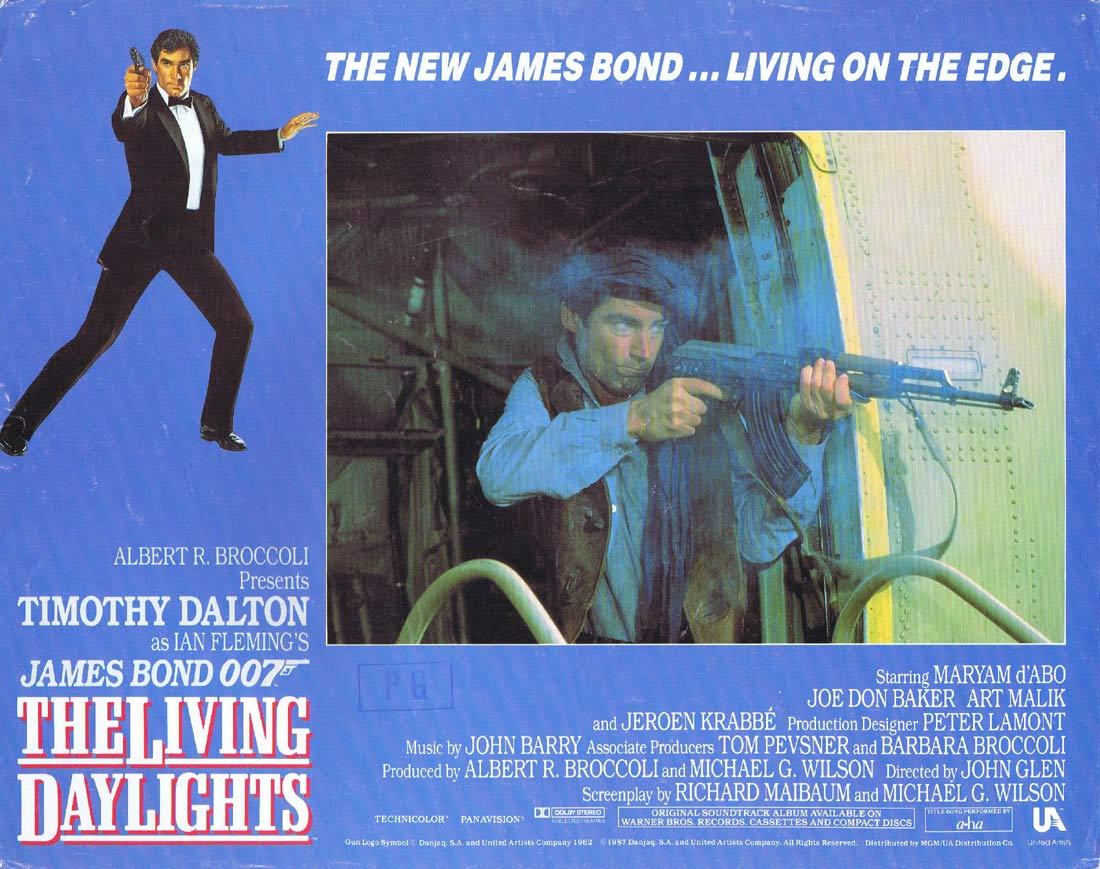 THE LIVING DAYLIGHTS Original US Lobby Card 2 Timothy Dalton James Bond