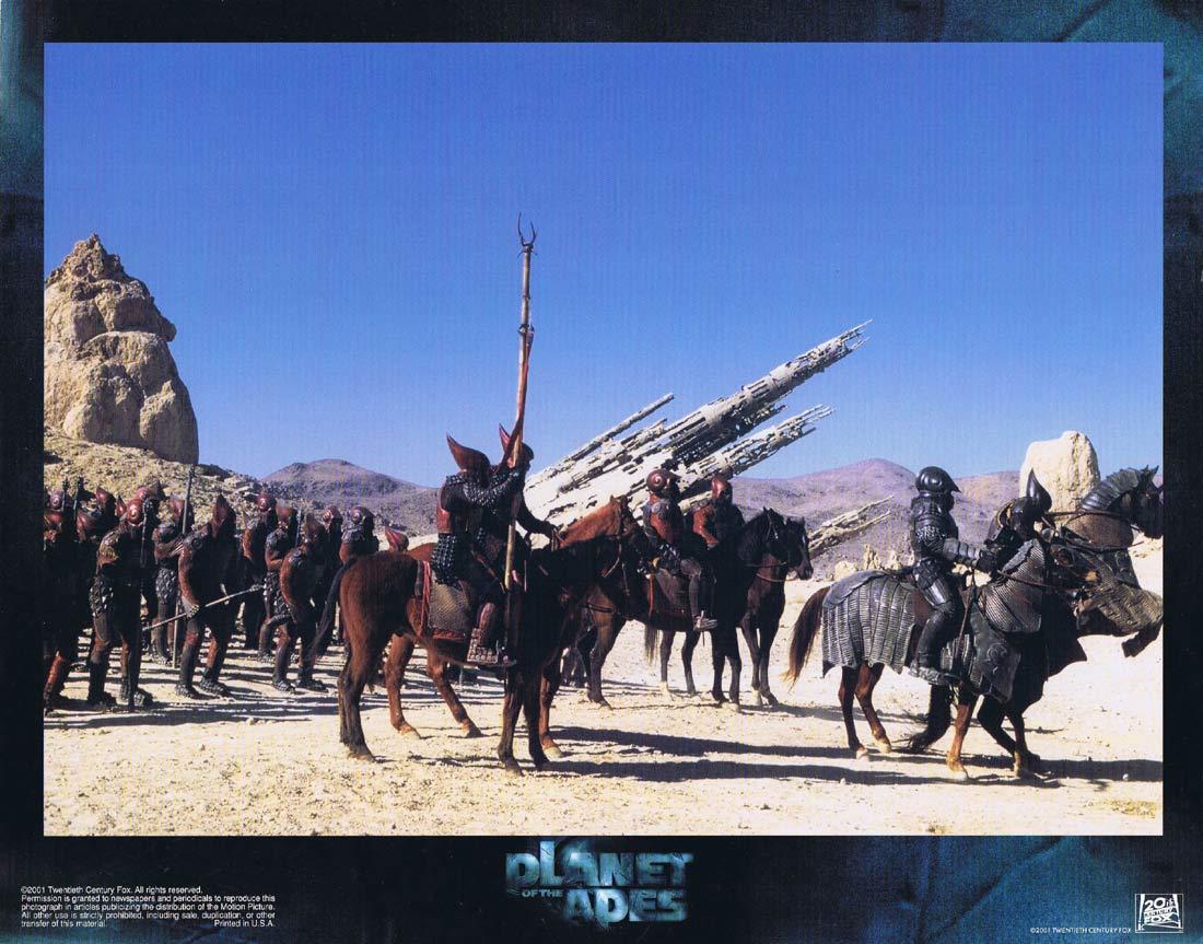 PLANET OF THE APES Original Lobby Card 3 Mark Wahlberg Tim Burton Tim Roth