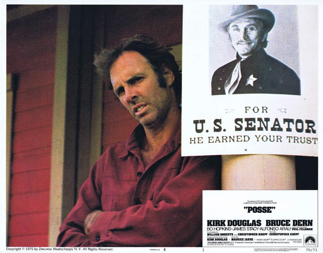 POSSE Original Lobby Card 1 Kirk Douglas Bruce Dern Bo Hopkins