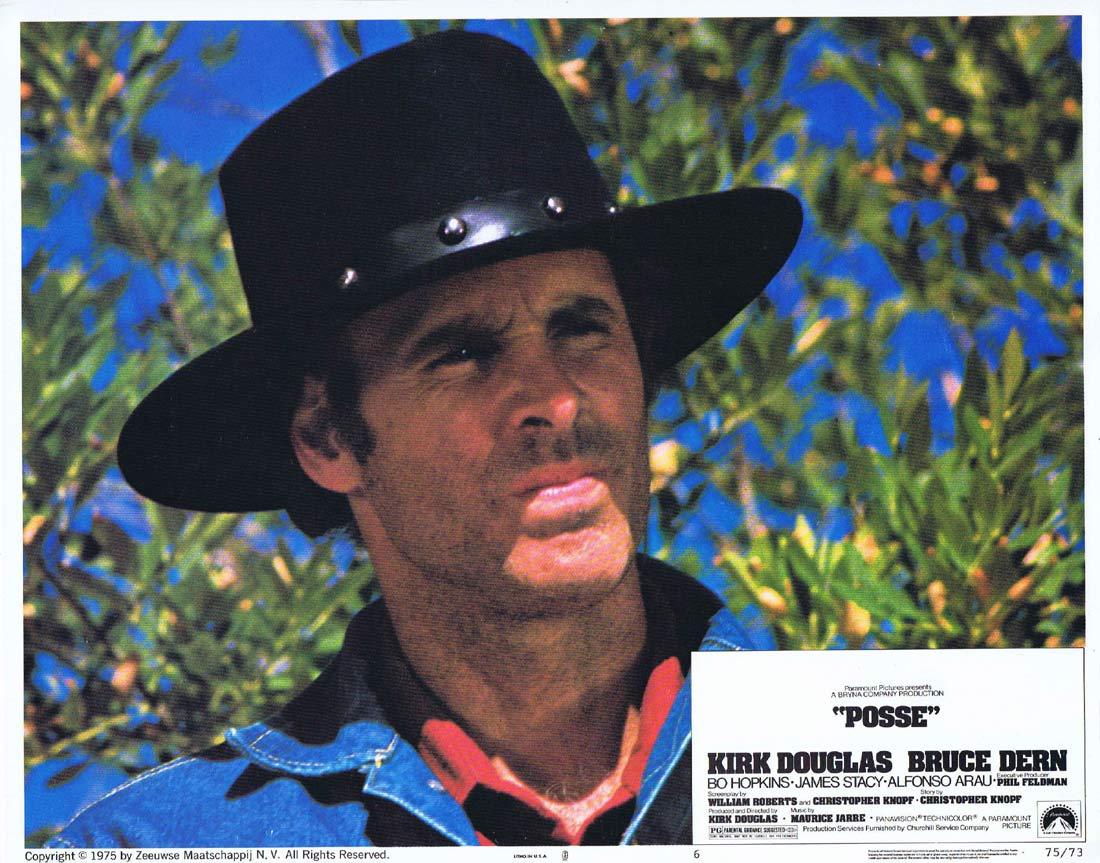 POSSE Original Lobby Card 6 Kirk Douglas Bruce Dern Bo Hopkins