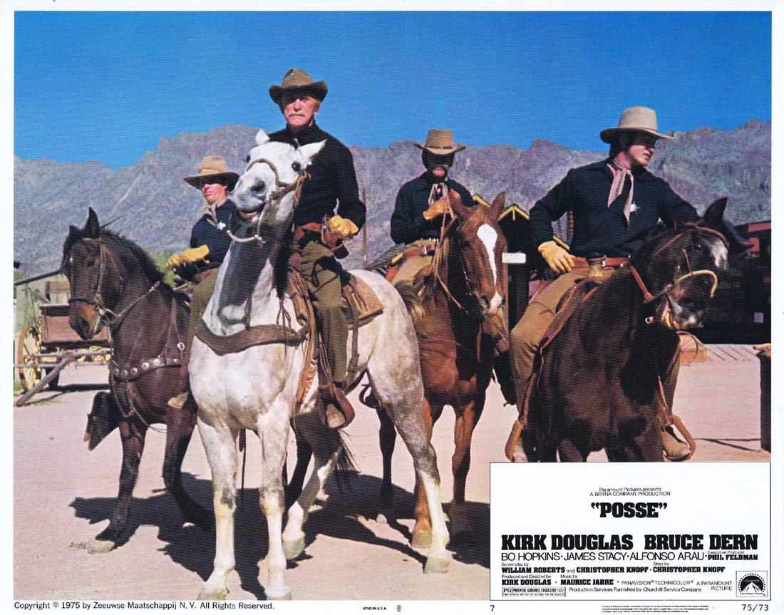 POSSE Original Lobby Card 7 Kirk Douglas Bruce Dern Bo Hopkins
