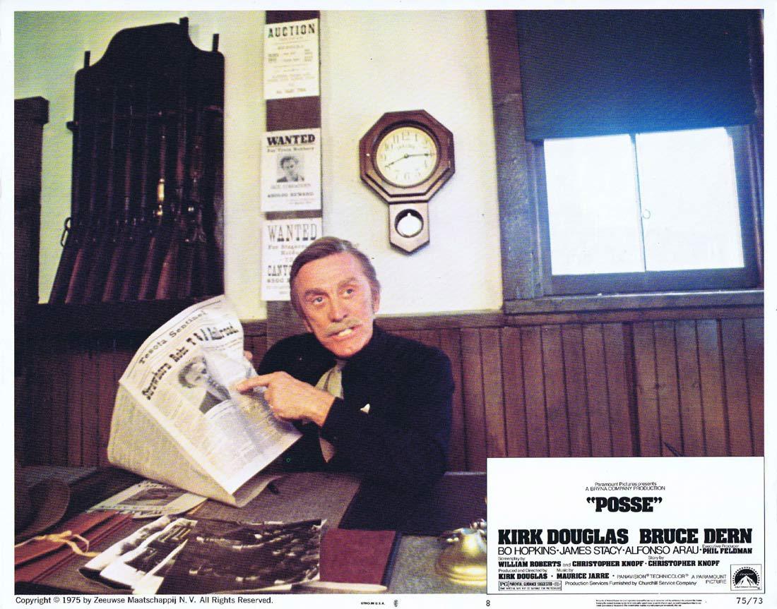 POSSE Original Lobby Card 8 Kirk Douglas Bruce Dern Bo Hopkins