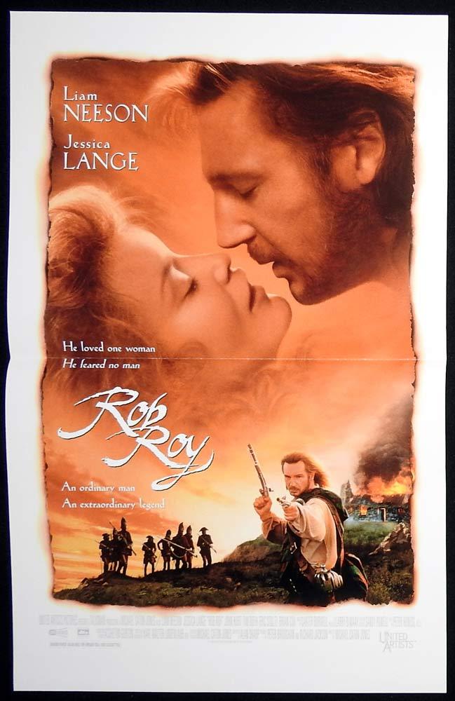 ROB ROY Original Daybill Movie poster Liam Neeson Jessica Lange