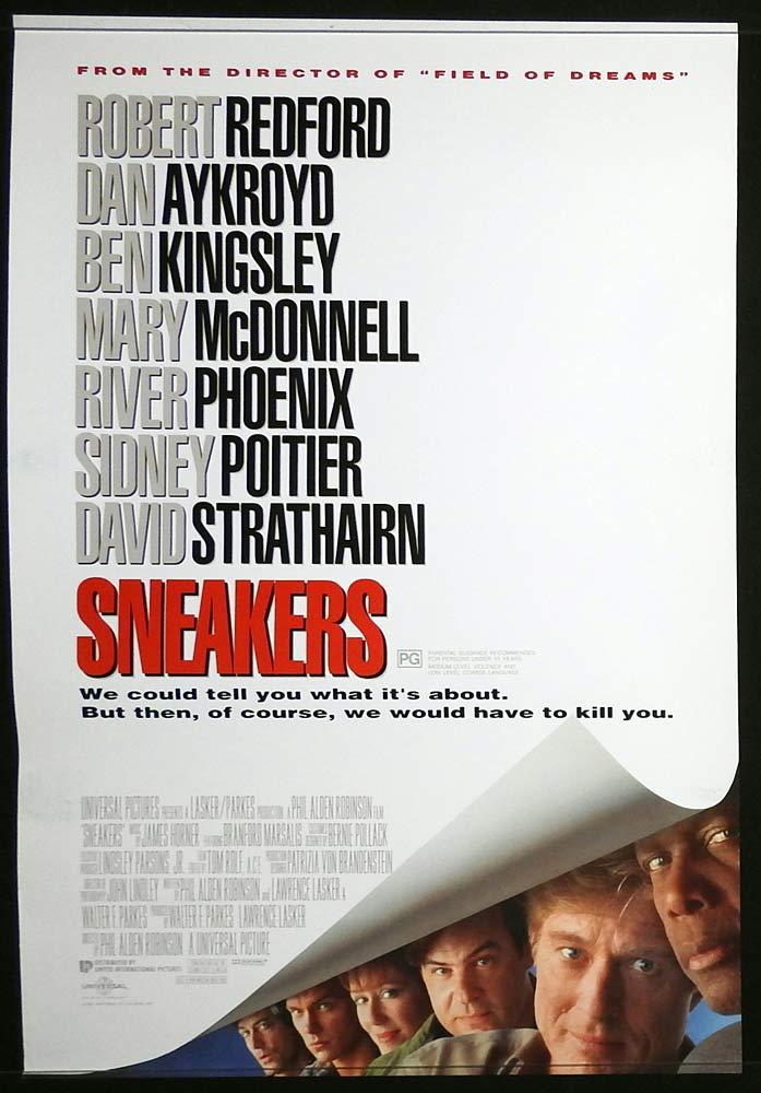 SNEAKERS Original Daybill Movie poster Robert Redford Dan Aykroyd