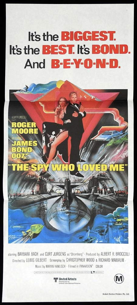 THE SPY WHO LOVED ME Original Daybill Movie poster Roger Moore James Bond