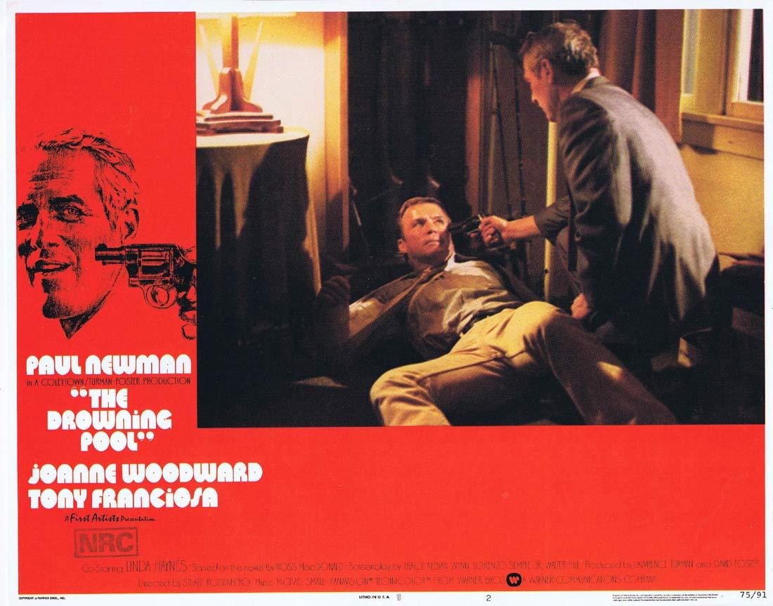 THE DROWNING POOL Original US Lobby Card 2 Paul Newman Joanne Woodward Melanie Griffith