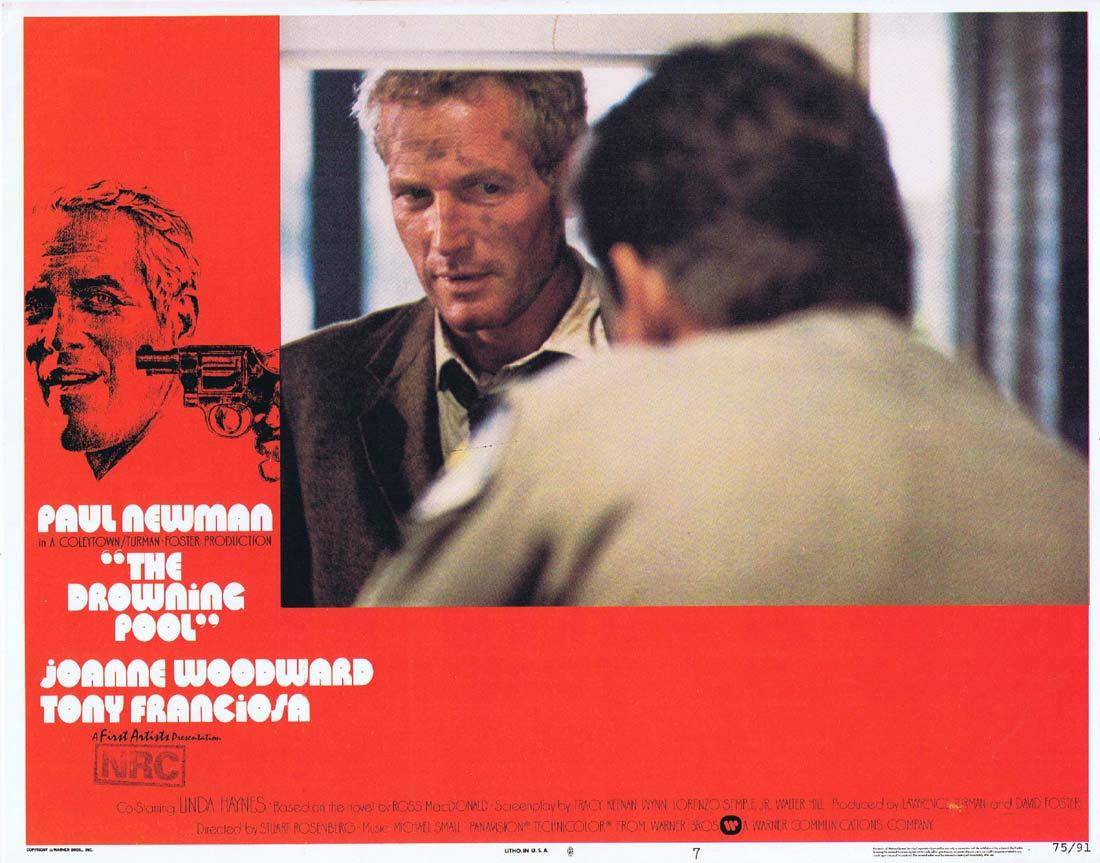 THE DROWNING POOL Original US Lobby Card 7 Paul Newman Joanne Woodward Melanie Griffith