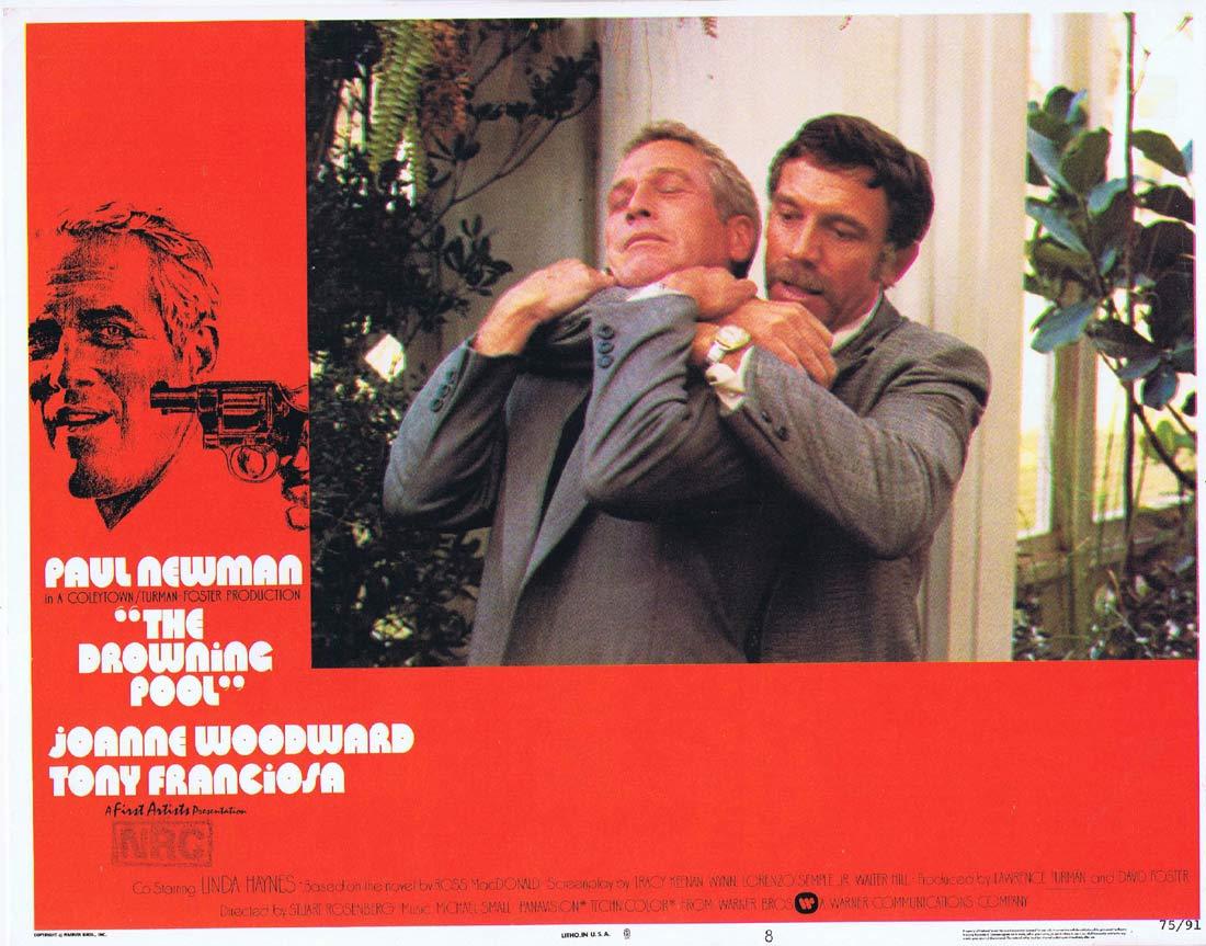 THE DROWNING POOL Original US Lobby Card 8 Paul Newman Joanne Woodward Melanie Griffith