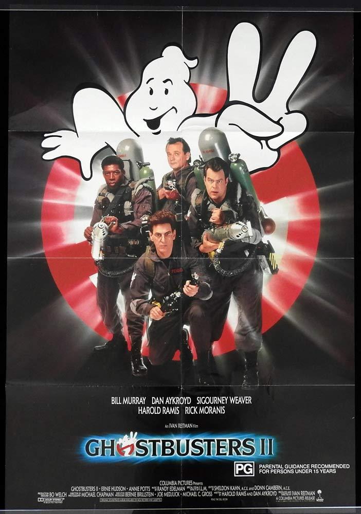 GHOSTBUSTERS II Original One sheet Movie poster Bill Murray Dan Aykroyd