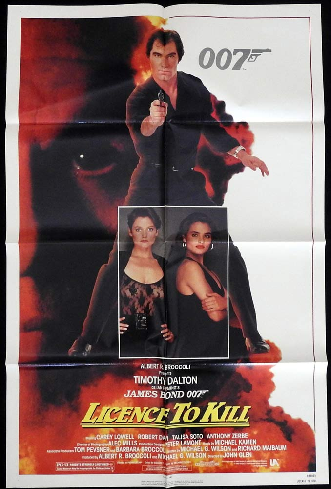 LICENCE TO KILL Original US One sheet Movie poster Timothy Dalton James Bond