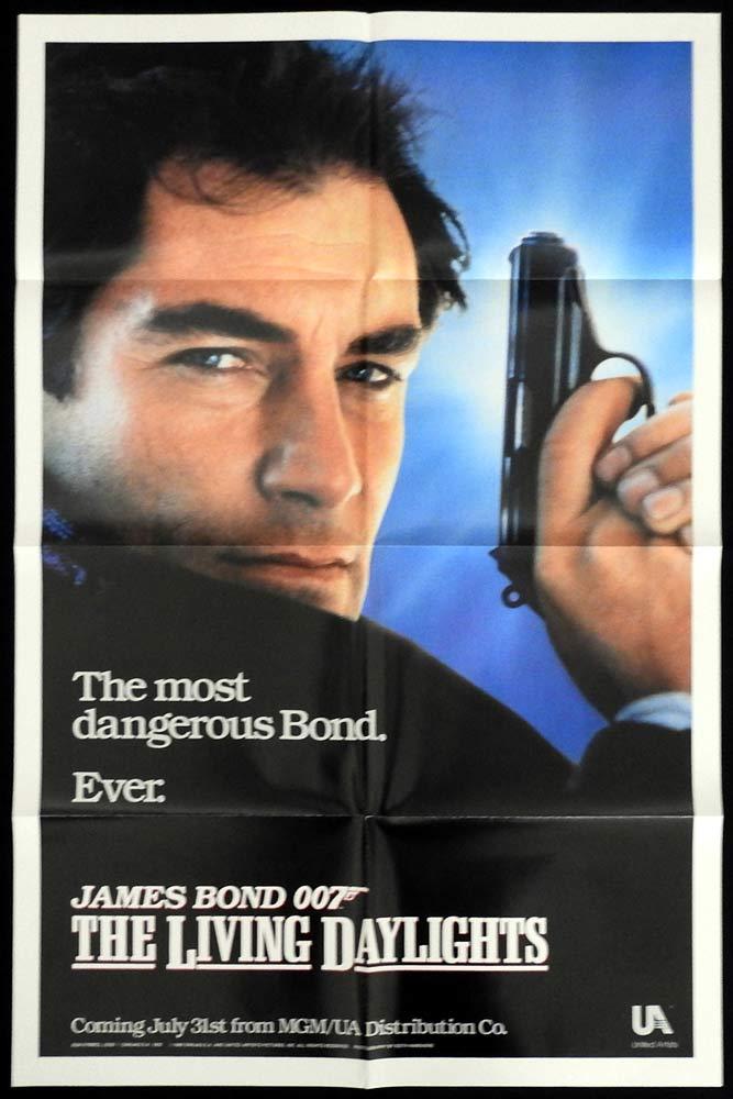 THE LIVING DAYLIGHTS Original Advance US One sheet Movie poster Timothy Dalton James Bond
