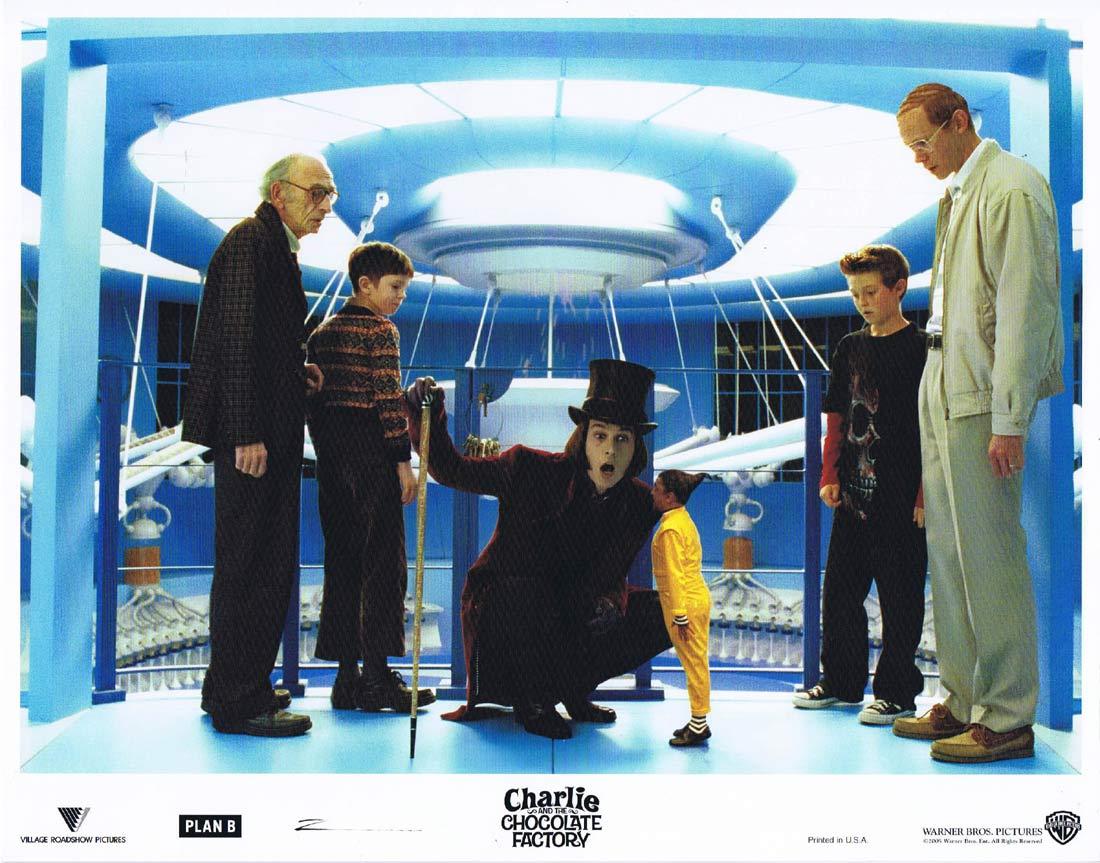CHARLIE AND THE CHOCOLATE FACTORY Original Lobby Card 3 Johnny Depp