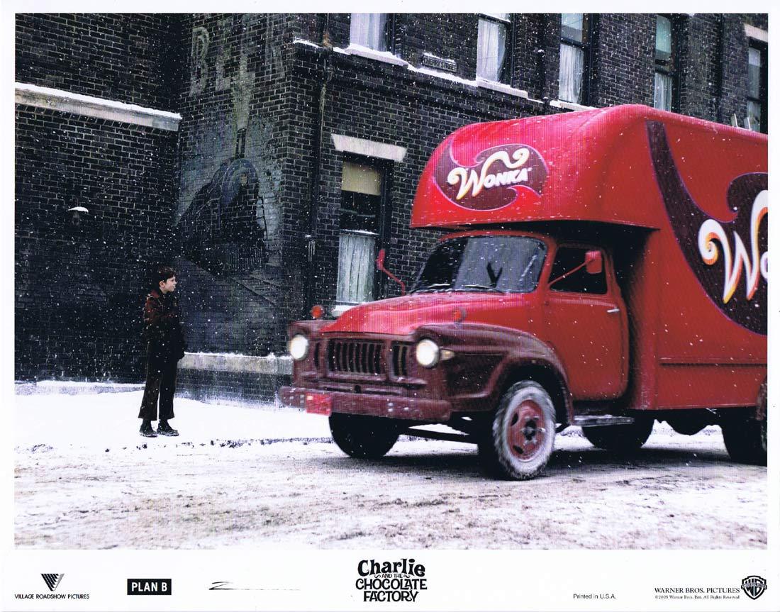 CHARLIE AND THE CHOCOLATE FACTORY Original Lobby Card 6 Johnny Depp
