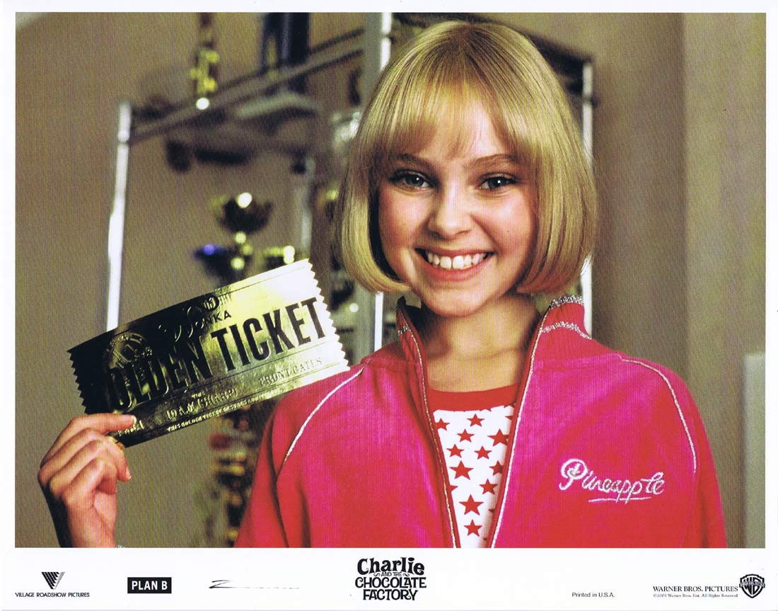 CHARLIE AND THE CHOCOLATE FACTORY Original Lobby Card 9 Johnny Depp