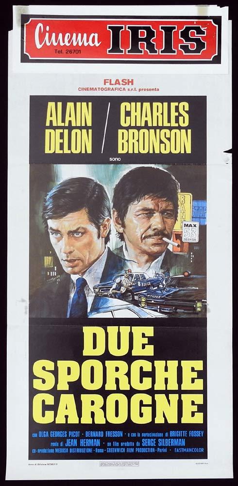FAREWELL FRIEND Original 1970sr Locandina Movie Poster Alain Delon Charles Bronson