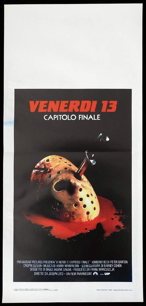 FRIDAY THE 13TH THE FINAL CHAPTER Original Locandina Movie Poster Slasher Horror