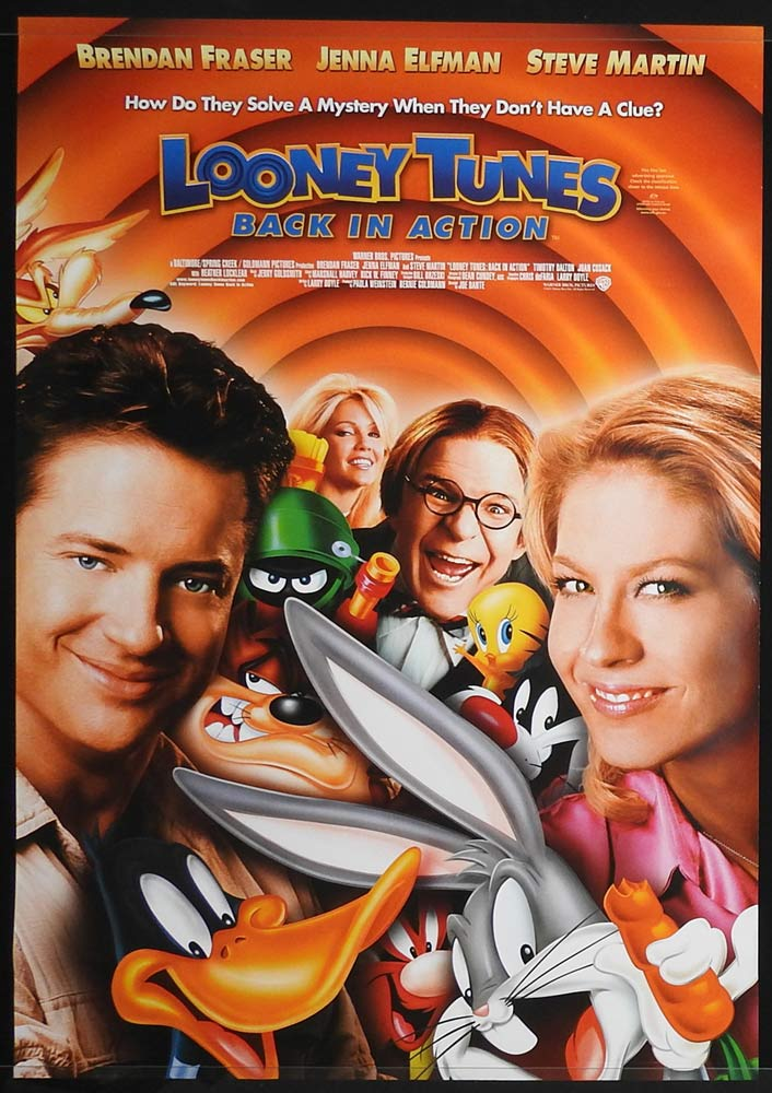 LOONEY TUNES BACK IN ACTION Original Rolled One sheet Movie poster Brendan Fraser Jenna Elfman A