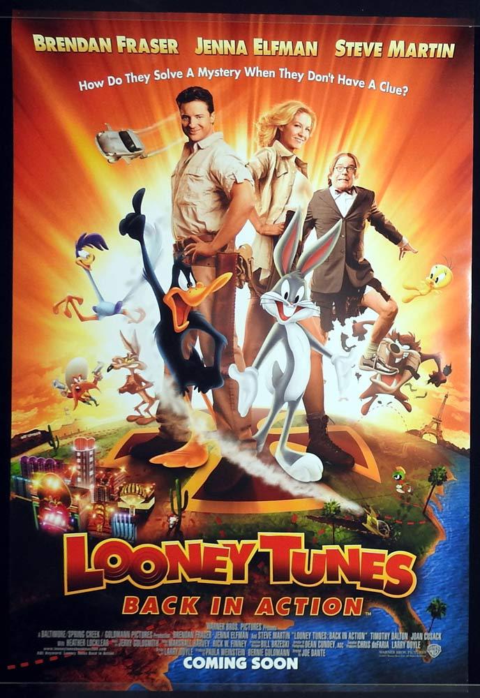 LOONEY TUNES BACK IN ACTION Original Rolled One sheet Movie poster Brendan Fraser Jenna Elfman B