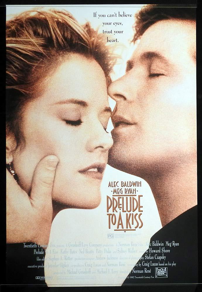 PRELUDE TO A KISS Original Rolled One sheet Movie poster Alec Baldwin Meg Ryan