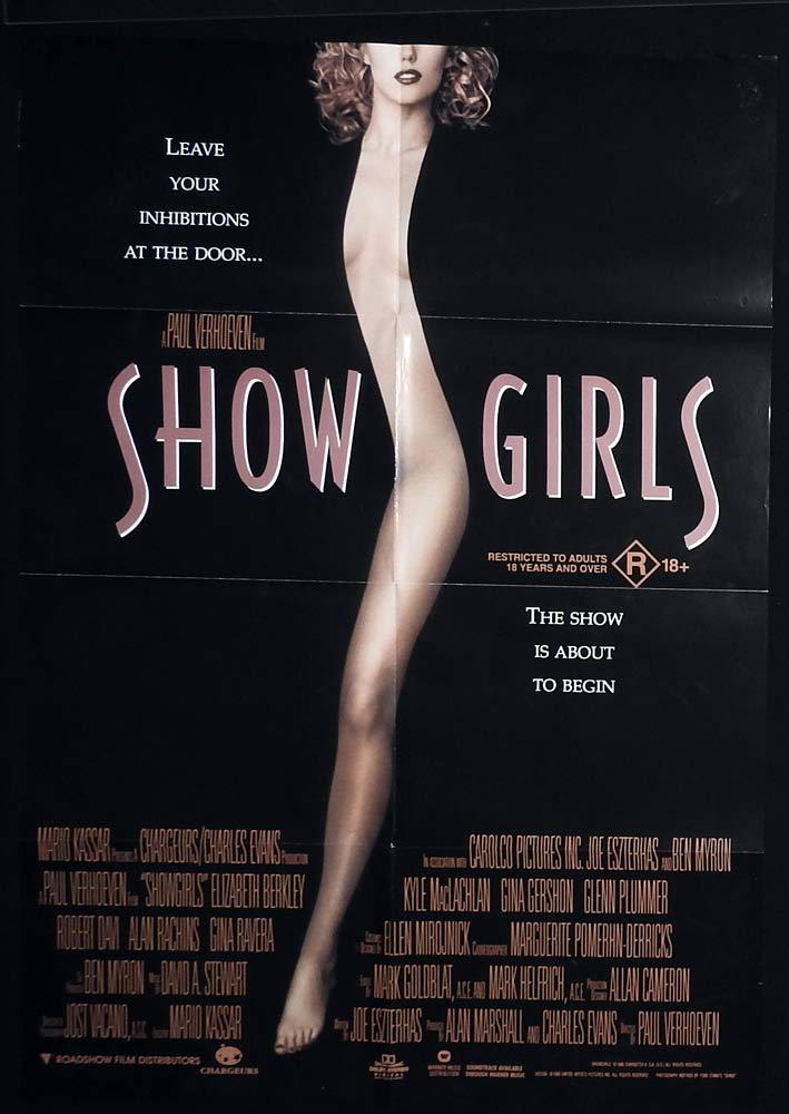 SHOWGIRLS Original One sheet Movie poster Elizabeth Berkley Gina Gershon