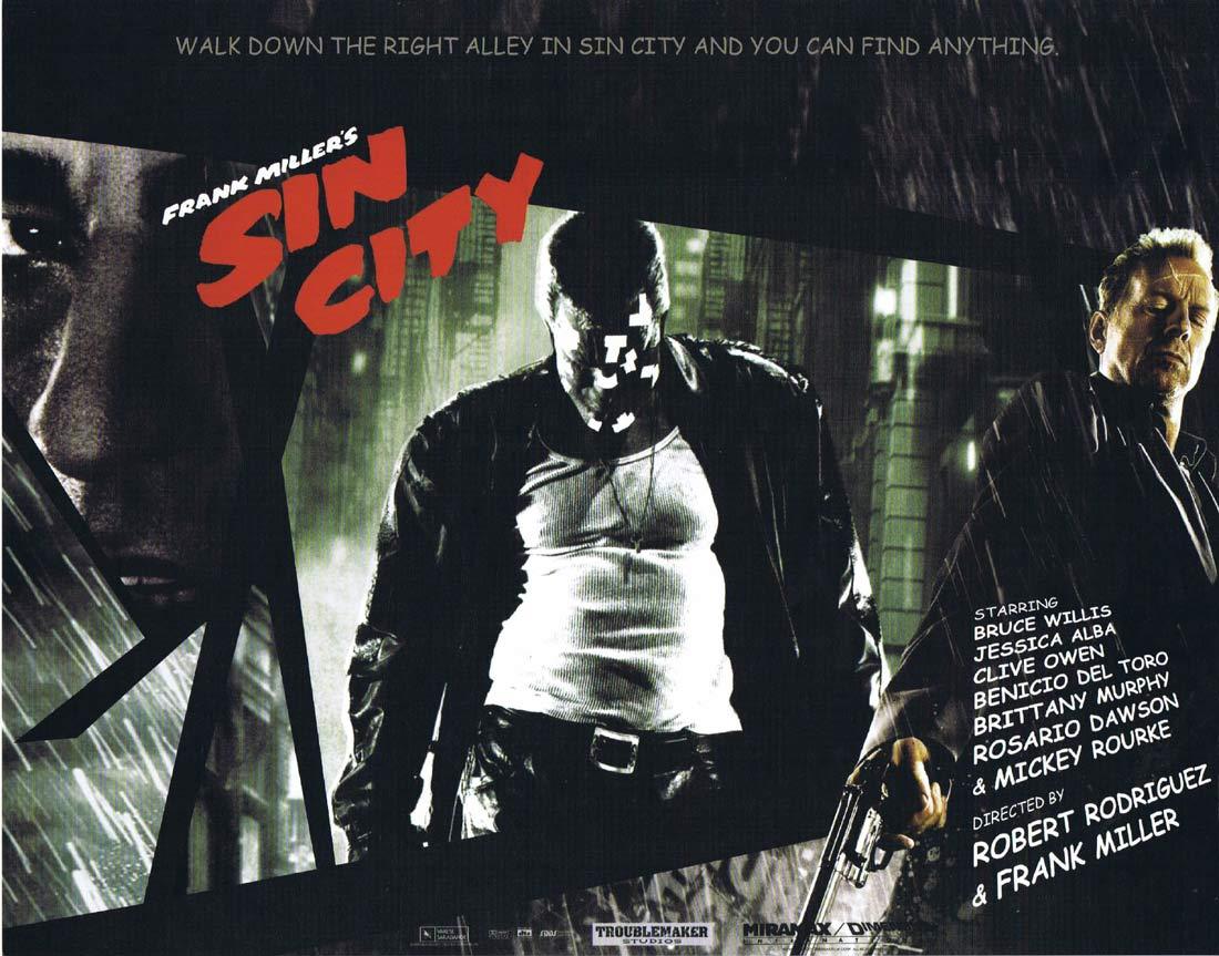 SIN CITY Original Lobby Card 7 Jessica Alba Mickey Rourke Bruce Willis