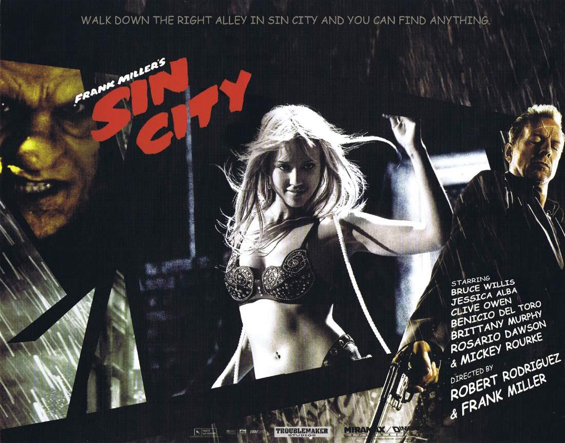 SIN CITY Original Lobby Card 8 Jessica Alba Mickey Rourke Bruce Willis