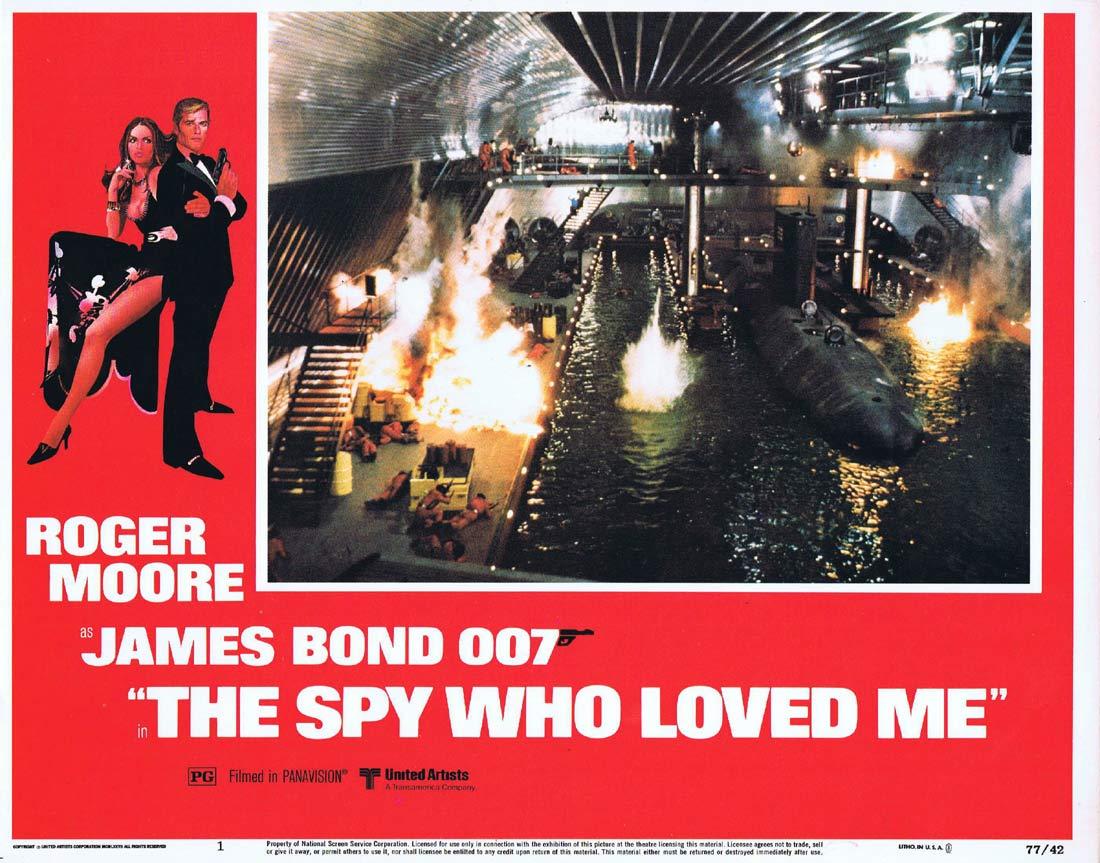 THE SPY WHO LOVED ME Original Lobby Card 1 Roger Moore James Bond Barbara Bach