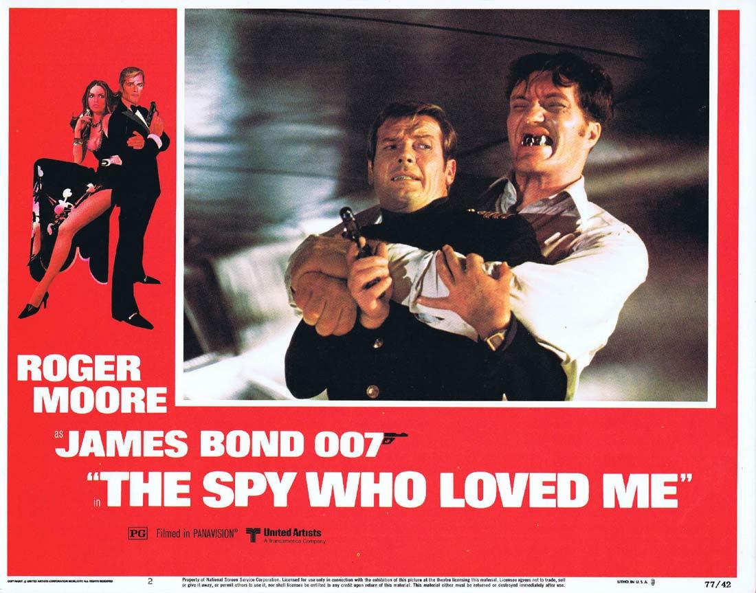 THE SPY WHO LOVED ME Original Lobby Card 2 Roger Moore James Bond Barbara Bach
