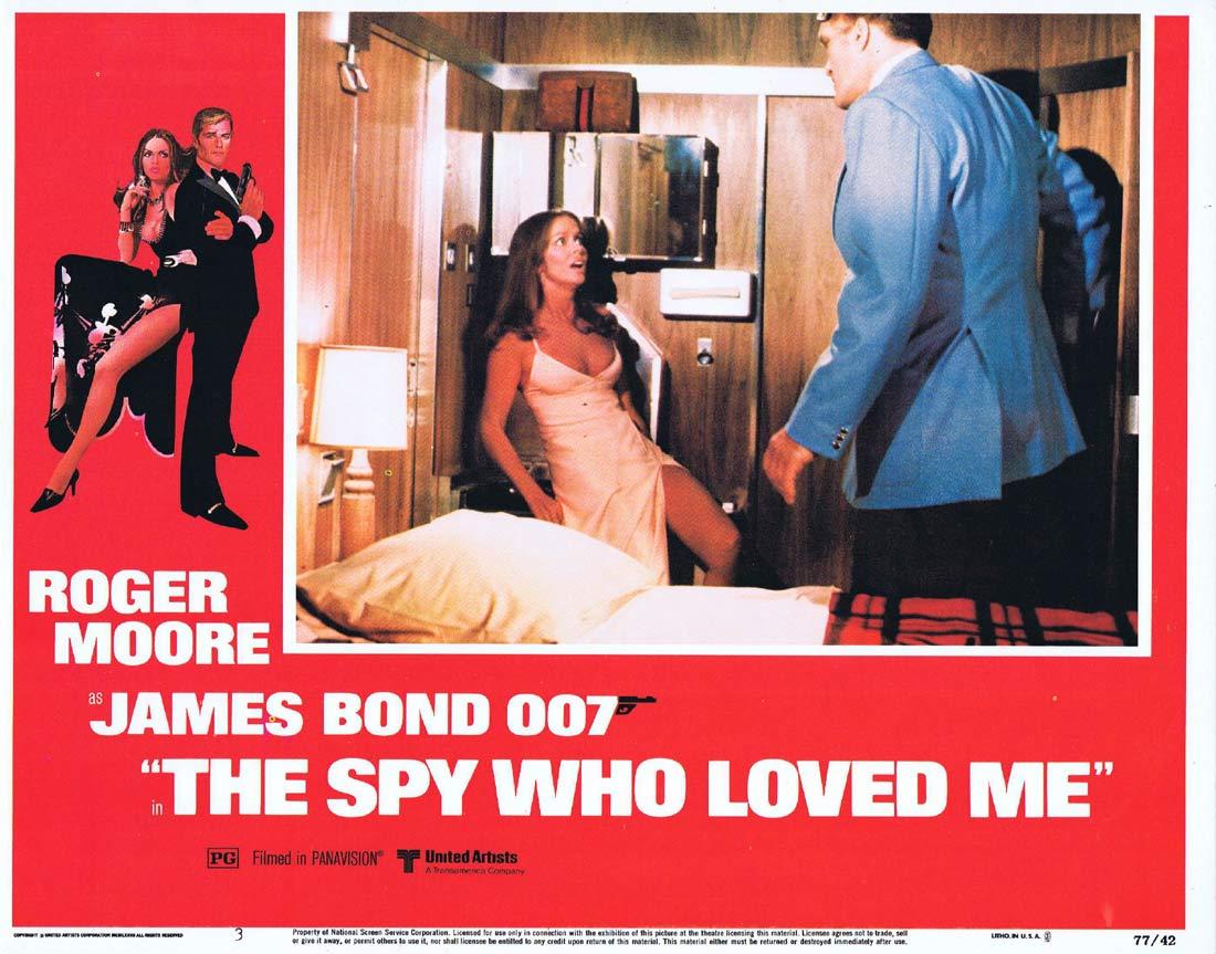 THE SPY WHO LOVED ME Original Lobby Card 3 Roger Moore James Bond Barbara Bach