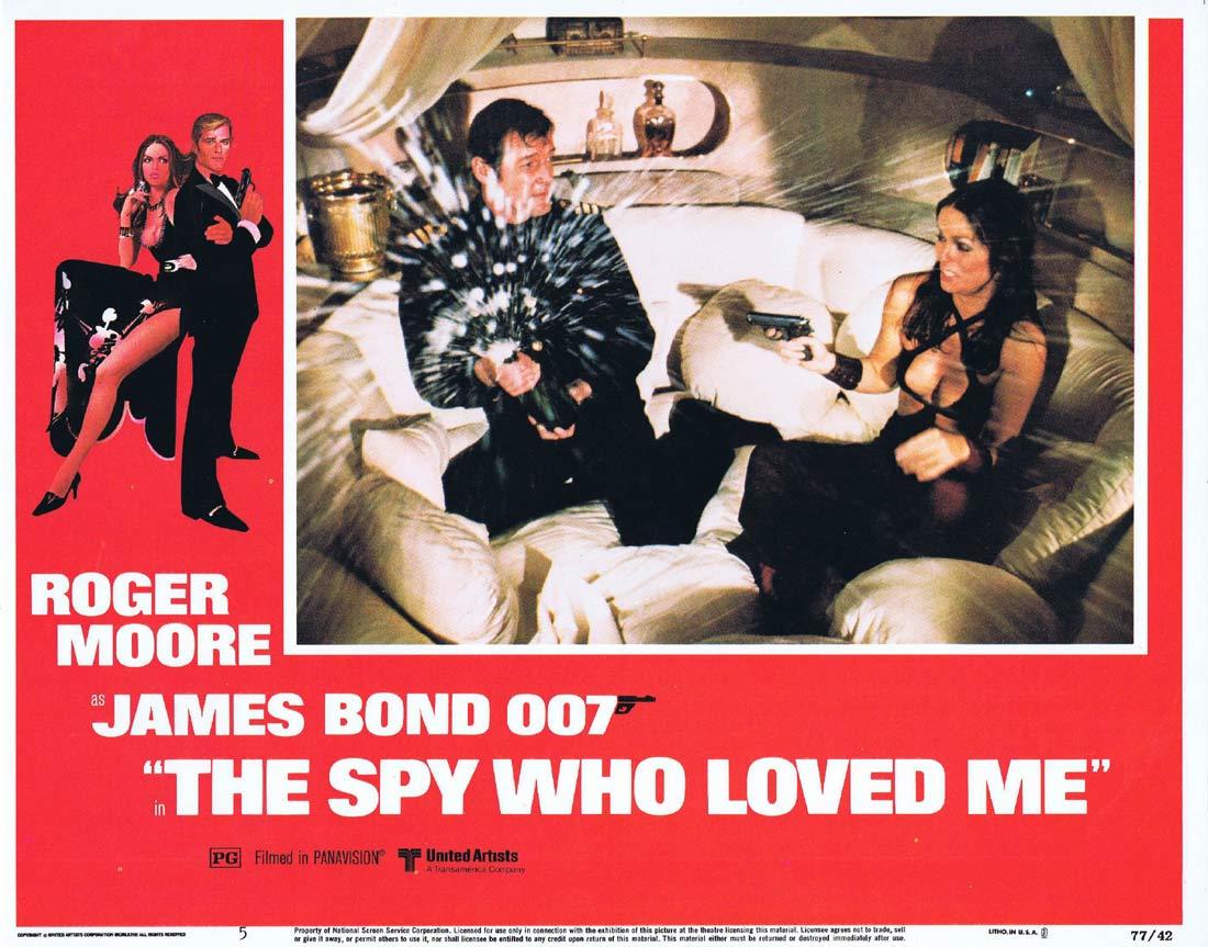 THE SPY WHO LOVED ME Original Lobby Card 5 Roger Moore James Bond Barbara Bach