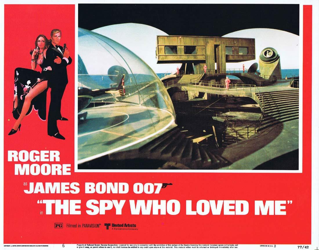 THE SPY WHO LOVED ME Original Lobby Card 6 Roger Moore James Bond Barbara Bach