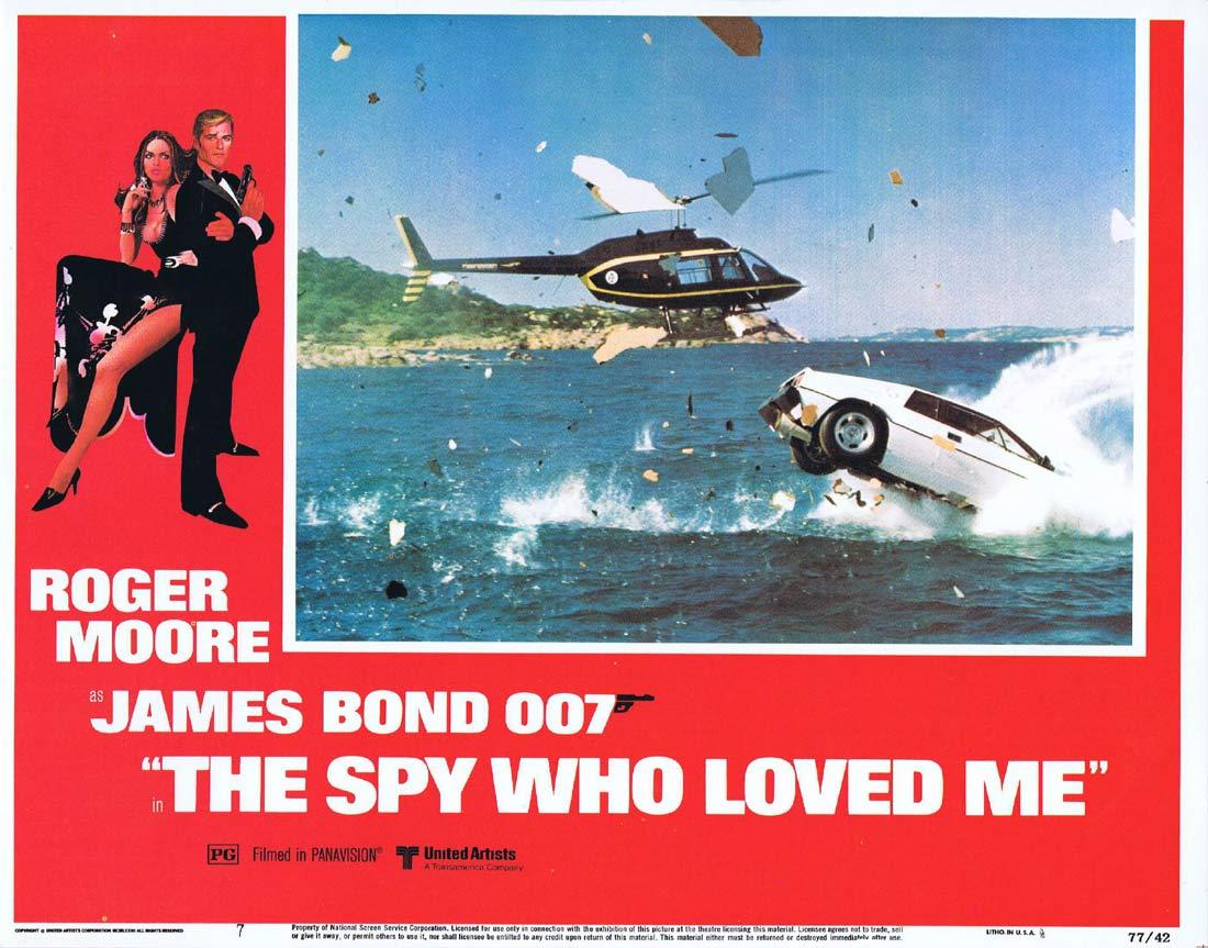 THE SPY WHO LOVED ME Original Lobby Card 7 Roger Moore James Bond Barbara Bach