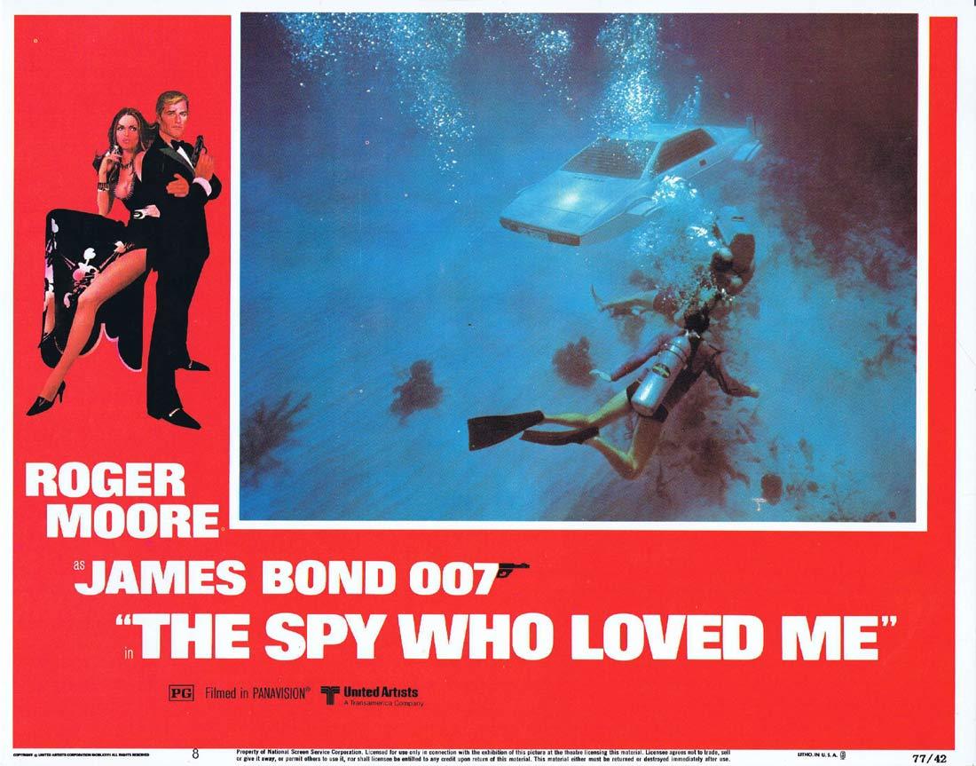 THE SPY WHO LOVED ME Original Lobby Card 8 Roger Moore James Bond Barbara Bach