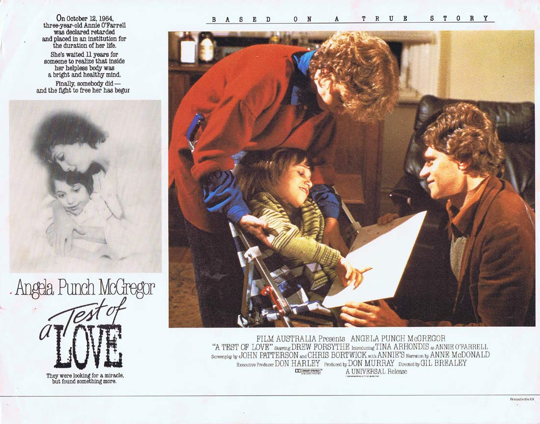 A TEST OF LOVE aka ANNIES COMING OUT Original Lobby Card Angela Punch McGregor Drew Forsythe