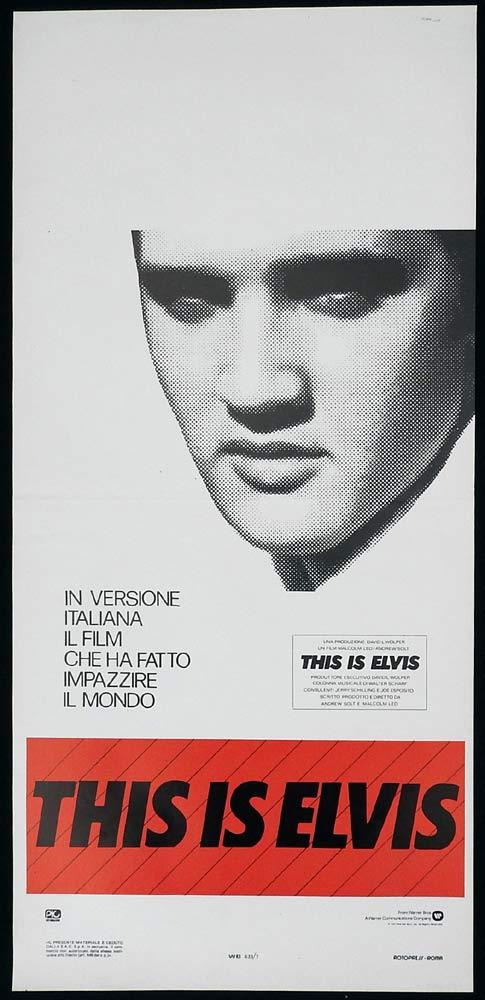 THIS IS ELVIS Original Locandina Movie Poster Elvis Presley Andrew Solt