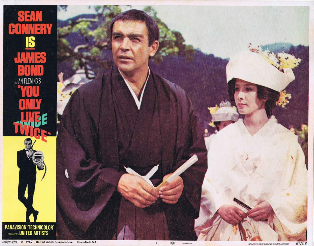 YOU ONLY LIVE TWICE Original Lobby Card 1 James Bond Sean Connery Linen Backed