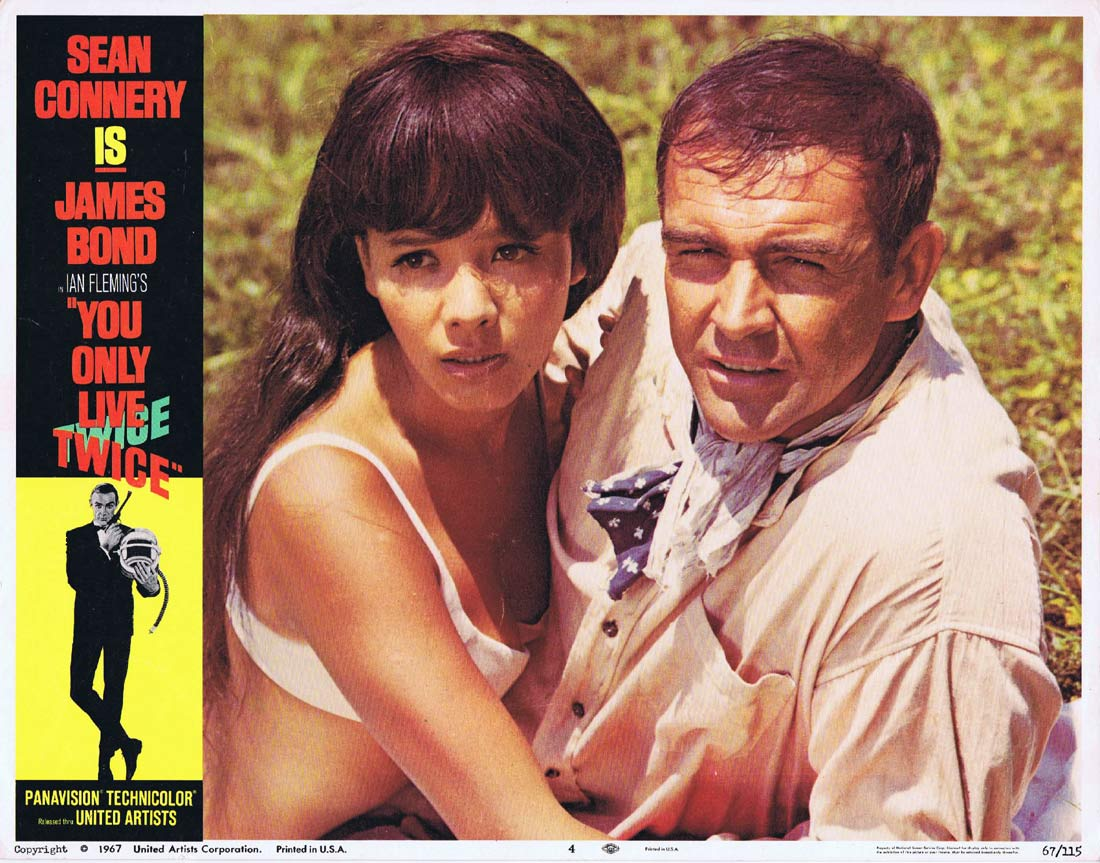 YOU ONLY LIVE TWICE Original Lobby Card 4 James Bond Sean Connery